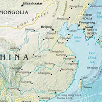Physical Map Of Central And East Asia.Regions Of Asia