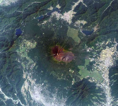 Japan Mountains Map