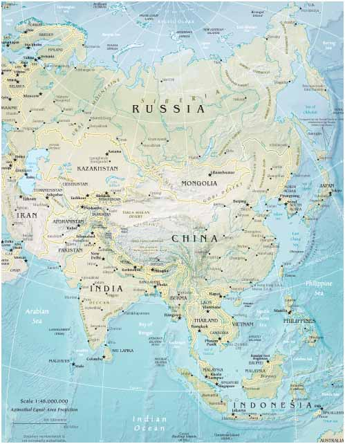 Map Of Asia - Asia maps